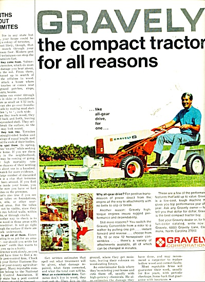 Gravely lawn tractor ad   1969 (Image1)