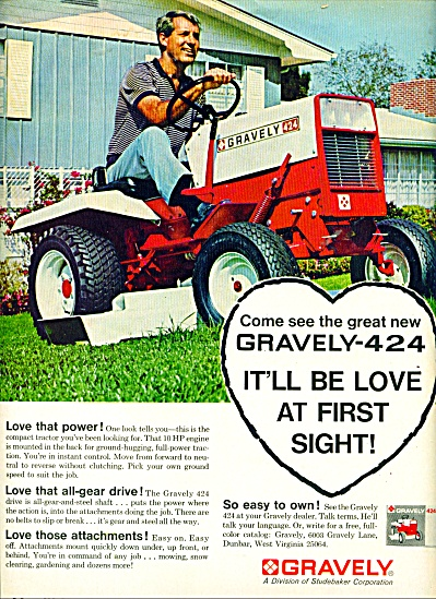 Gravely lawn tractor ad - 1968 (Image1)