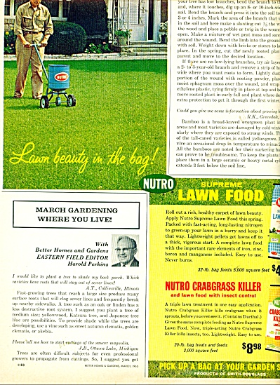 Nutro supreme lawn food ad - 1965 (Image1)