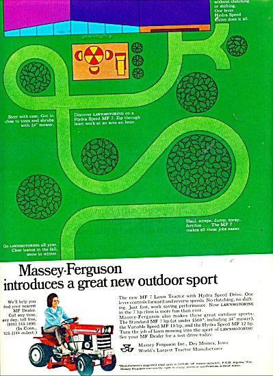 Massey Ferguson lawn tractor ad - 1969 (Image1)