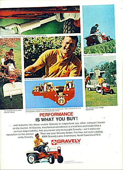 Gravely Cordporation lawn tractor ad (Image1)