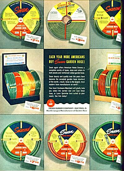 Swan Garden Hose company ad -1956 (Image1)