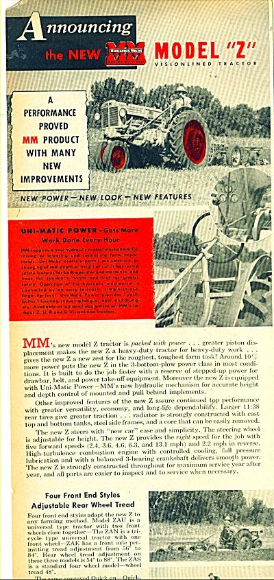 Minneapolis Moline implement company ad 49 (Image1)