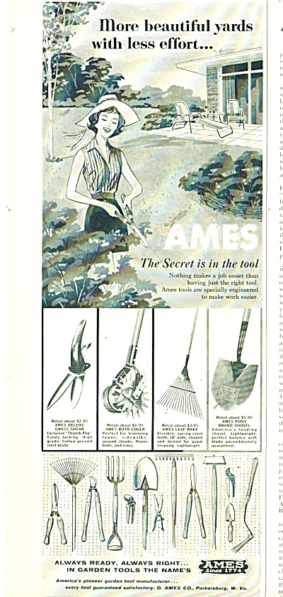 Ames Tools Ad - 1961