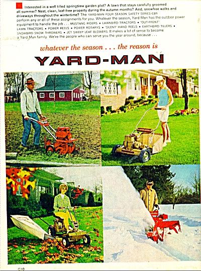 Yard Man maintenance equipment ad  1968 (Image1)