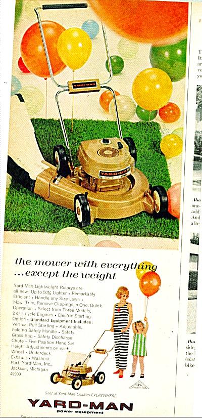 Yard Man power equipment.  ad   1969 (Image1)