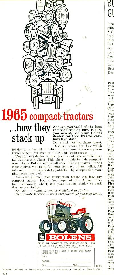 Bolens lawn tractor ad - 1965 (Image1)