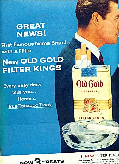 Old Gold cigarettes  ad   1955 (Image1)