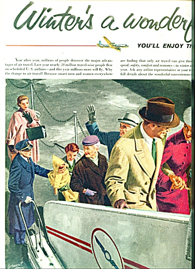 Winters a wonderful time to fly ad - 1955 (Image1)
