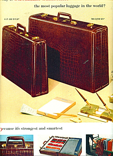 Streamlite Samsonite luggage - 1955 ad (Image1)