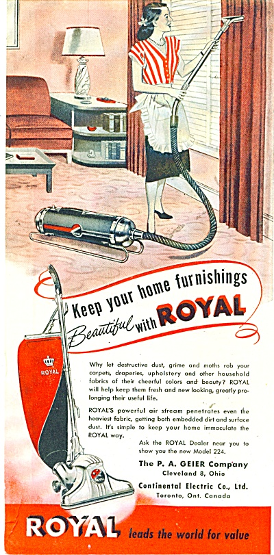 Royal  vacuum cleaner ad. (Image1)