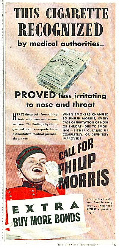 1944 Call for Philip Morris Cigarette AD JOHNNY (Image1)