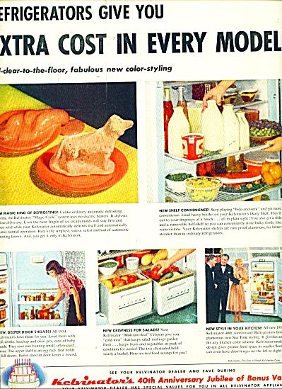 1954 Kelvinator's  40th ANNIV REFRIGERATOR AD (Image1)