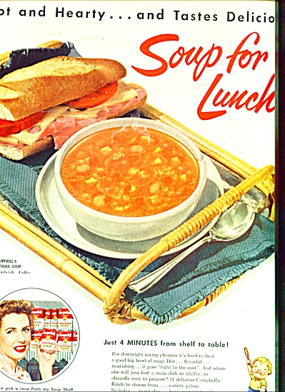 Campbell's soups ad 1954 (Image1)