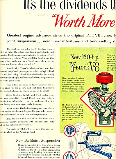 1954 Ford automobile ad - 1954 (Image1)