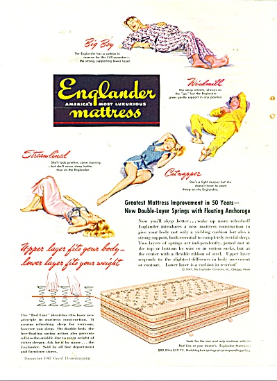 1947 Englander Mattress AD Barbara Schwin ART (Image1)
