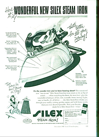 Silex steam Iron ad - 1947 (Image1)