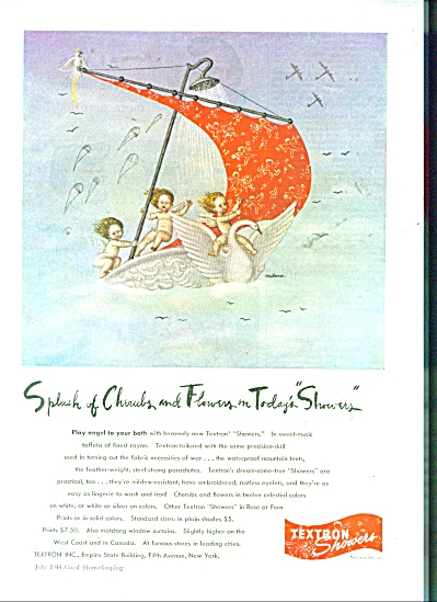 Textron showers ad -  1944 (Image1)