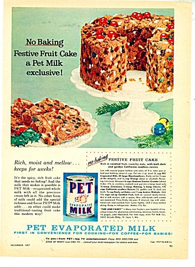 Pet Evaporated Milk ad - 1957 (Image1)