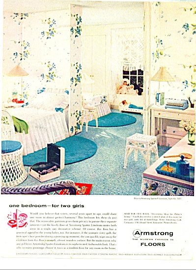 Armstrong SPATTER Linoleum AD  floors ad - (Image1)