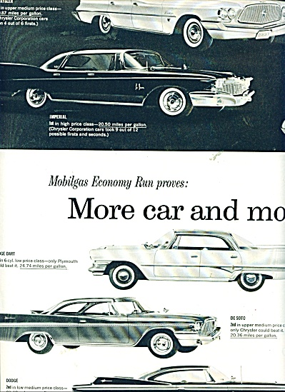 1960 Chrysler CAR AD DART DeSoto Valiant MODE (Image1)