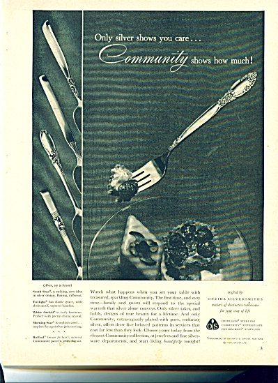 Oneida silversmiths ad SOUTH SEADS MORNING STAR +++ (Image1)