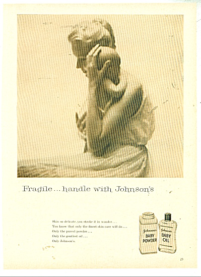 Johnson's Baby powder and oil ad  - 1958 (Image1)
