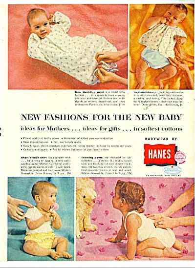 1958 Hanes BABY LAYETTE - UNDERWEAR AD (Image1)