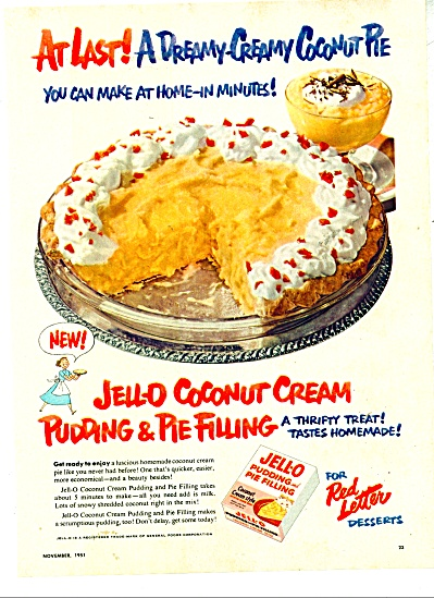 Jello pudding and pie filling ad - 1951 (Image1)