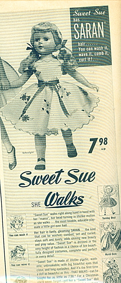 1950's SWEET SUE American Character DOLL Ad (Image1)