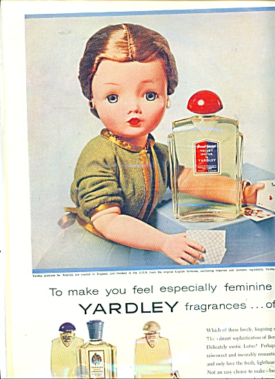 Yardley Cissy Madame Alexander Doll Ad