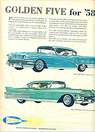 General Motors  Gold five for 58 ad (Image1)