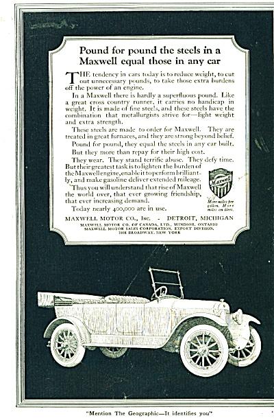 Maxwell Motor car ad - 1920's (Image1)