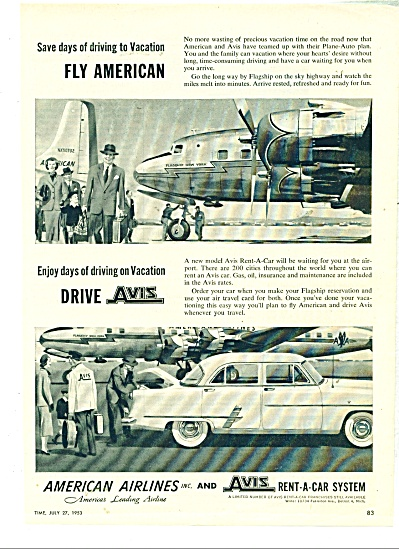 American Airlines and Avis rent a car ad - 19 (Image1)