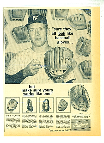 Rawlings  gloves ad MICKEY MANTLE (Image1)