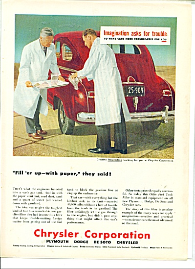 Chrysler Corporation automobiles.  ad (Image1)