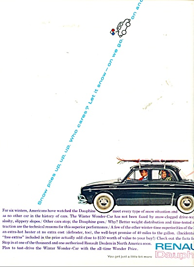 Renault Dauphine automobile ad - 1961 (Image1)