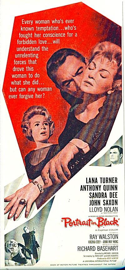 Movie Portrait in Black ad  - 1960 (Image1)