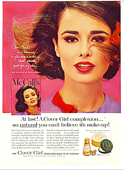 1962 COVER GIRL SONDRA PETERSON Model AD #2 (Image1)