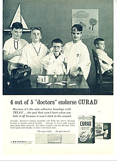 Curad sterile pads ad - 1962 (Image1)