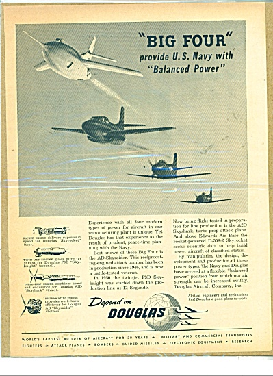 Depend on Douglas  ad - 1951 (Image1)