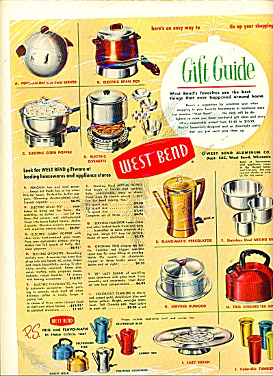 West Bend gift guide ad     1952 (Image1)