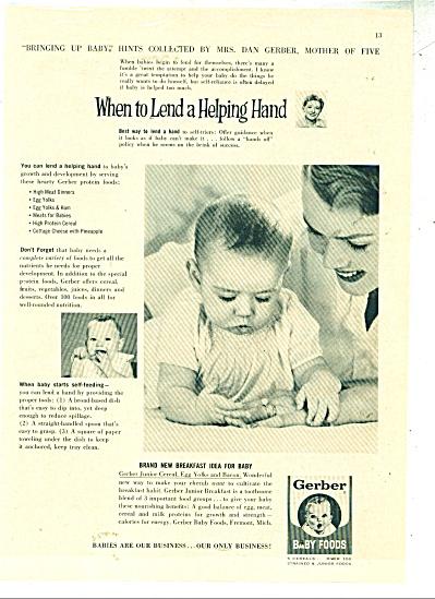 Gerber baby foods ad   1960 (Image1)