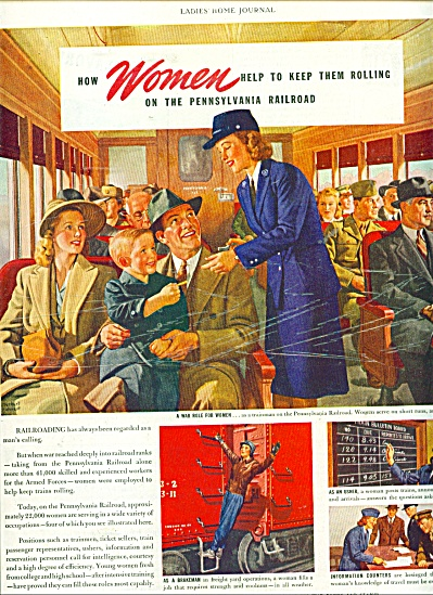 1944 Pennsylvania Railroad ad   HERBERT .... ART (Image1)
