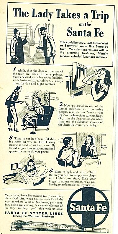 Sante Fe railroad ad - 1948 (Image1)
