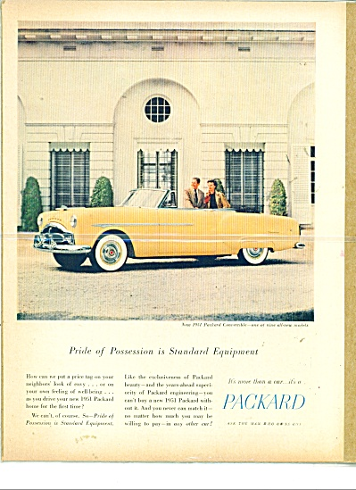 1951 PACKARD CONVERTIBLE CAR AD Pride in Poss (Image1)