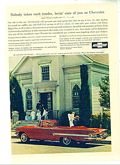 1960 CHEVY Chevrolet AD IMPALA CONVERTIBLE (Image1)