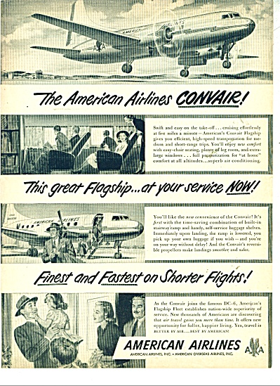 American Airlines ad  - 1948 CONVAIR FLAGSHIP (Image1)
