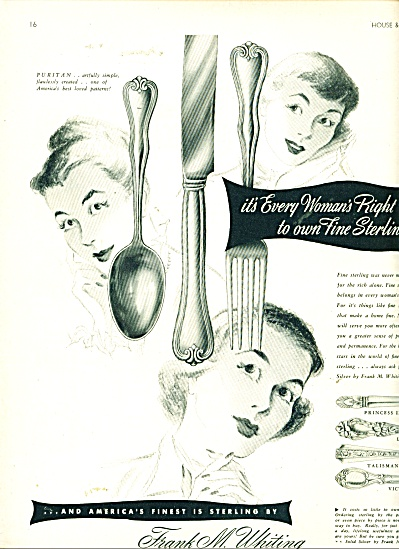 Frank M. Whiting Sterling silver ad - 1948 (Image1)