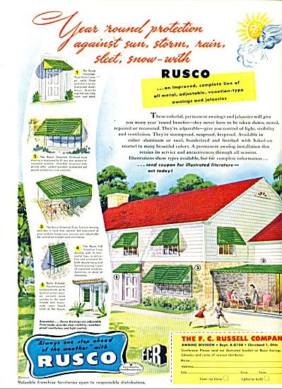 Rusco awnings and jalousies ad - 1948 (Image1)